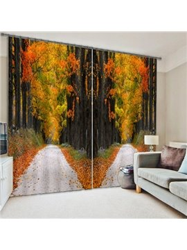 Forest Path Living Room&Bedroom 3D Blackout Curtain