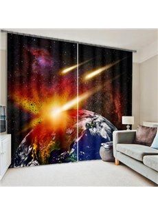 Amazing Planets Printing Living Room & Bedroom 3D Curtain
