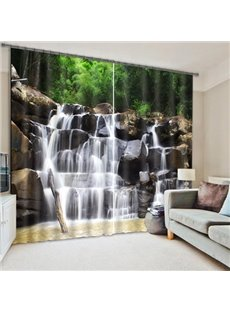 Spectacular Waterfall Print 3D Curtain