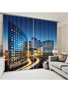 Modern City Energy Saving 3D Blackout Curtain