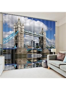 Tower Bridge Reactive Print 3D Blackout Curtain