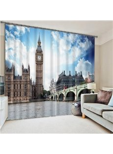 The London Big Ben Printing 3D Curtain