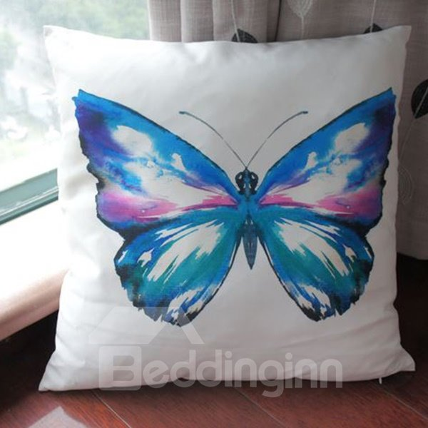 Pastoral Style Watercolour Butterfly Classy Throw Pillow