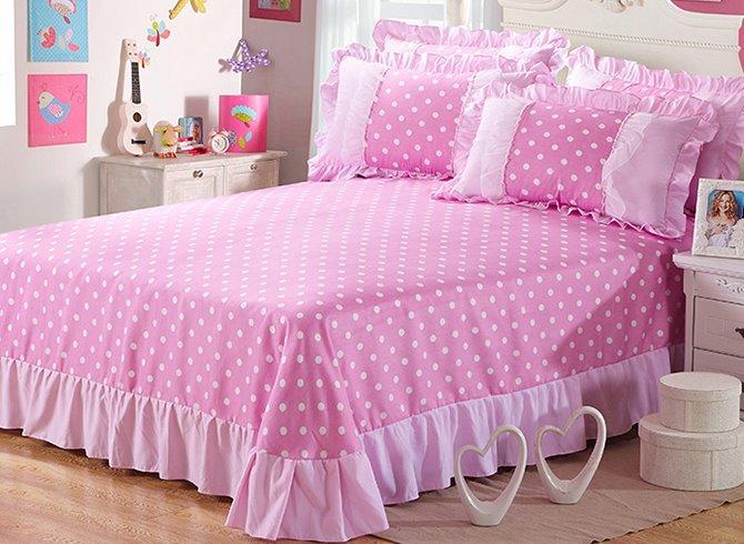 polka dots pattern 4 piece organic cotton duvet cover sets. Black Bedroom Furniture Sets. Home Design Ideas