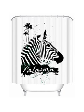 Superior Striated Palawan Zebra Design Shower Curtain