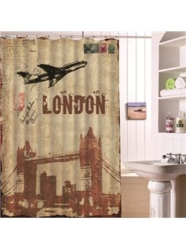 European Illustration Style London Tour Shower Curtain