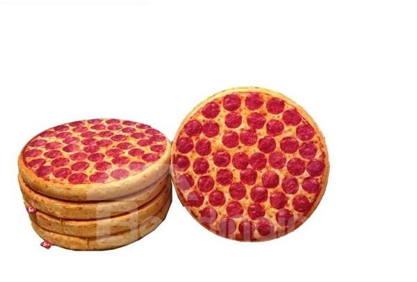 Fashion and Cute Soft Lifelike Yummy Pizza Style Cushion