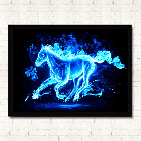 Fantastic Creative Original Flaming Horse Framed Wall Art Prints