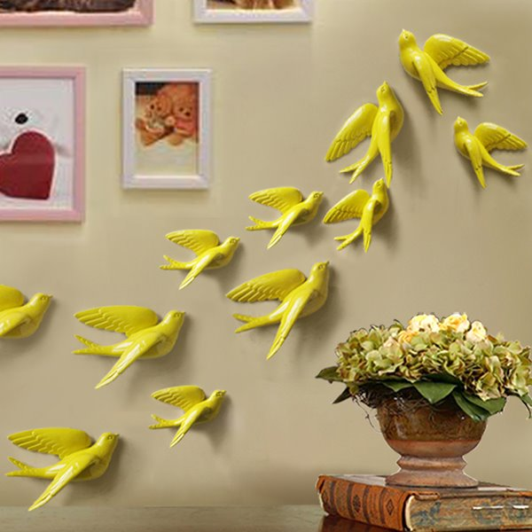Creative Wall Decorative 3D Birds Multi-Color 3D Wall Sticker