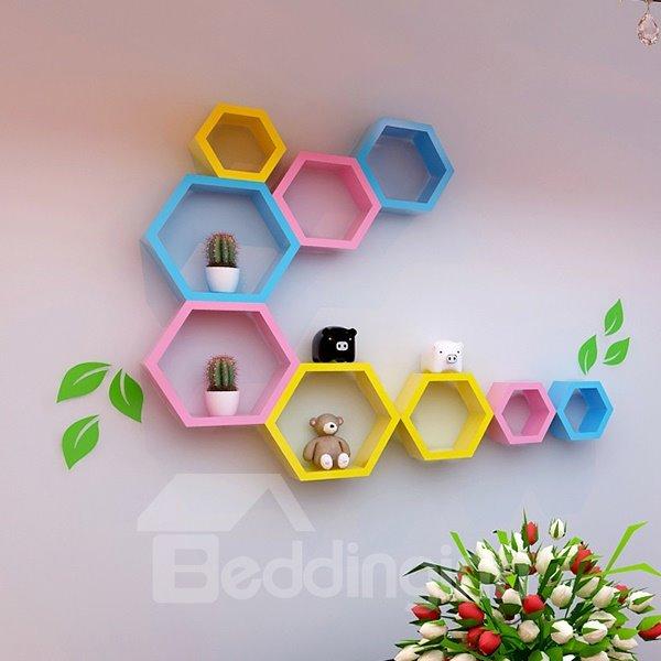 Creative Decorative Hexahedron Multi-Color 1-Set Wall Shelf