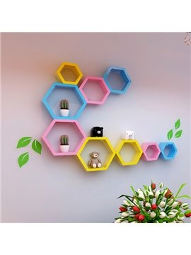 Creative Decorative Hexahedron Multi-Color 1-Set Wall Shelf