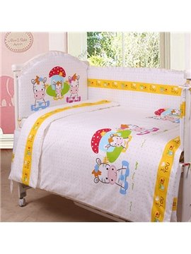 Lovely Pony Family 10-Piece Purified Cotton Crib Bedding Set