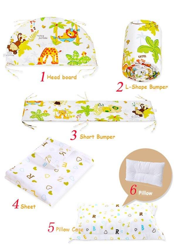 The Animal Kingdom 6-Piece Cotton Crib Bedding Set