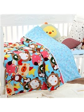 Top Quality Lovely Animal Pattern 100% Cotton Baby Quilt
