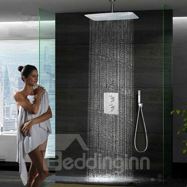 Superior Thermostatic Wall Mounted Brass Shower Head Faucet
