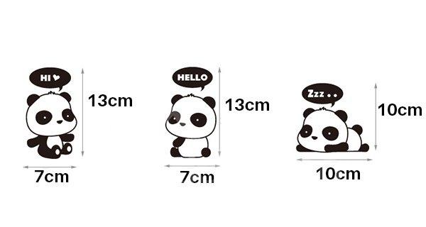 Super Cute Little Pandas 1-Set Switch Lights Removable Wall Sticker