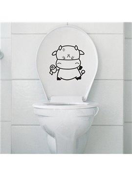 Super Cute Little Cow Water-Proof Bathroom Wall Sticker