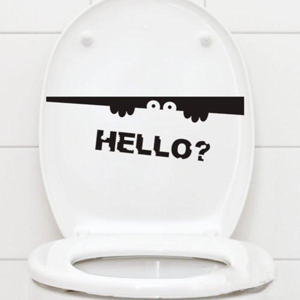 Creative Little Peeking Elf Bathroom Water-Proof Wall Sticker