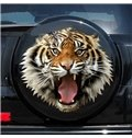 Fierce Tiger Roaring Out Pattern Design Creative Car Sticker