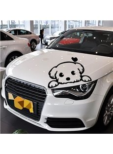 Cute Dog Waiting Master Going Home  Reflective Light Car Stickers