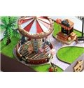 Beautiful and Fashion Merry-go-around Design Musical DIY House