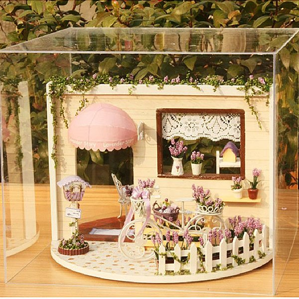 Romantic Creative Musical DIY House with LED Light Birthday Gift