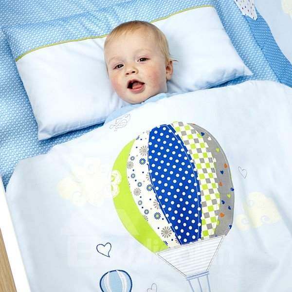 Bouncy Fire Balloon Cotton Baby Quilt with Removable Comforter