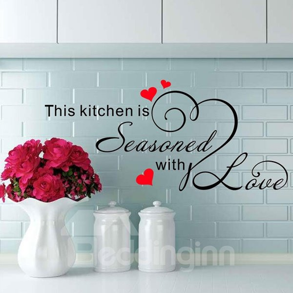 Loving Kitchen Seasoned With Love Removable Wall Sticker