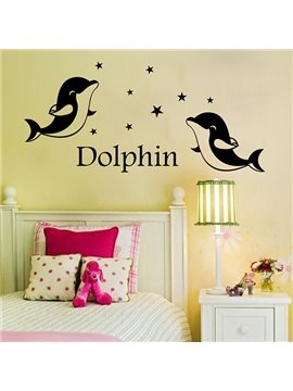Nursary Dolphins and Stars Removable Wall Sticker
