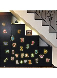 Fantastic Luminous Letters Nursary Removable Wall Sticker