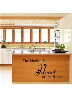 Words and Quotes Kitchen Heart of Home Removable Wall Sticker