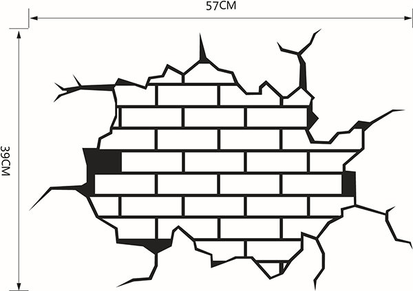 Amazing 3D Broken Walls Removable Wall Sticker