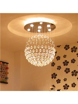 Fabulous Creative Modern Crystal Balls 3-Bulb Flush Mount Lights