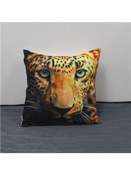 Lifelike Powerful 3D Leopard Print Throw Pillow