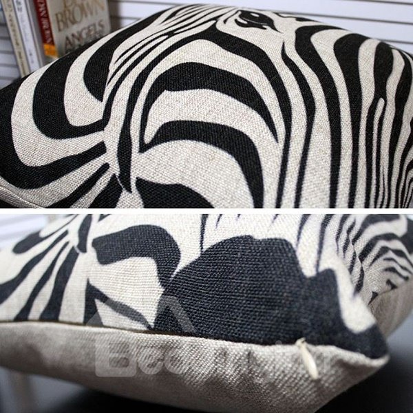 Vintage Fashion Zebra Print Blends Throw Piloow