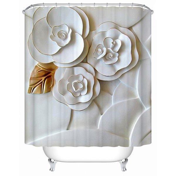 Vivid 3D Flower Creative Design Shower Curtain
