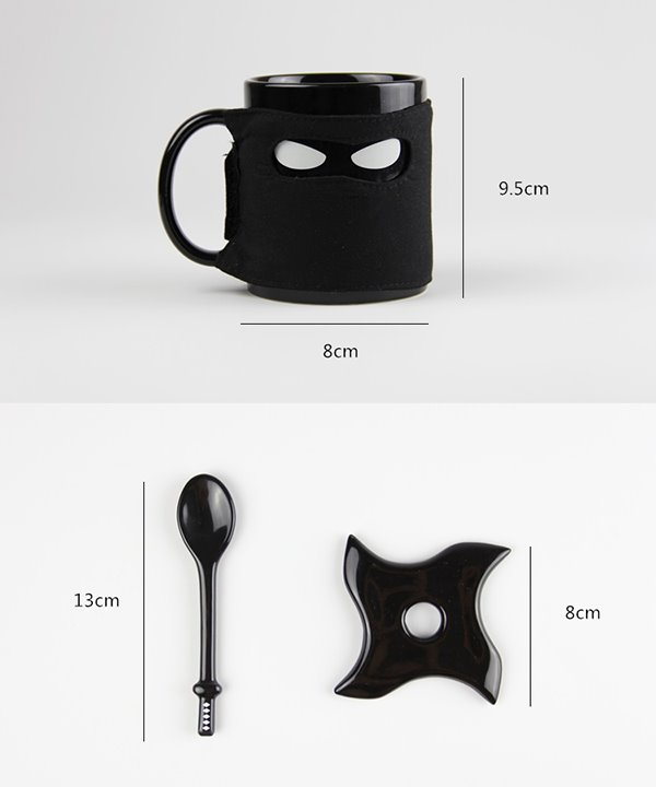 Creative Musked Ninja with Sword Ceramics Coffee Mugs