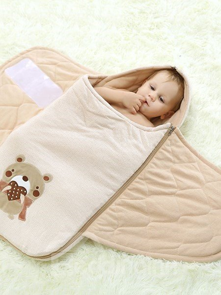 Soft and Classy Natural Colored Cotton Baby Sleeping Bag