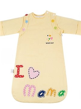 Love Mama Bright Yellow Baby Sleeping Bag with Removable Sleeves