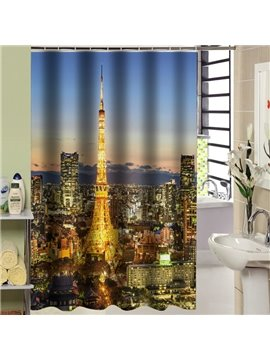 Glorious Urban Night Scene Vivid 3D Shower Curtain