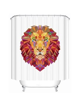Creative Design Lion Print 3D Bathroom Shower Curtain