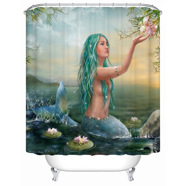Fascinating Mermaid Design Unique 3D Shower Curtain
