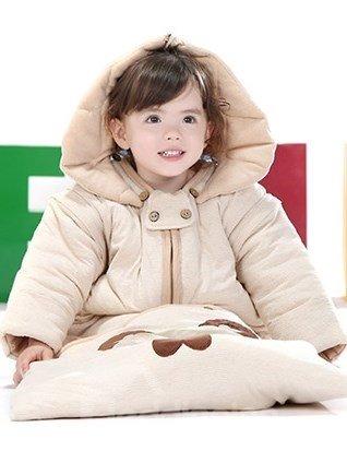 Bright Happy Bear Organic Cotton Baby Sleeping Bag