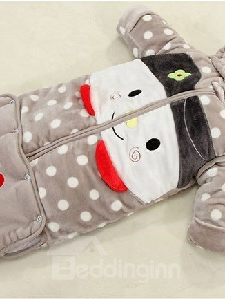 Lovely Girl and Polka Dot Warm Baby Sleeping Bag