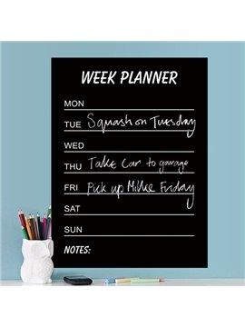 Functional Home and Office Week Planner Blackboard Wall Sticker