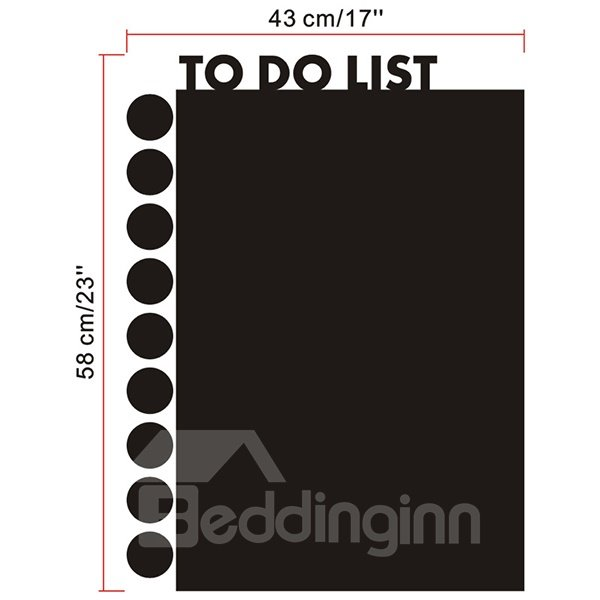 Functional Home and Office To Do List Blackboard Wall Sticker
