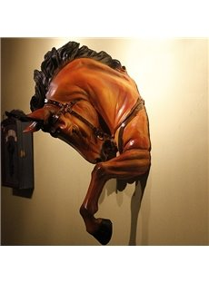 Marvelous Resin Horse Head Wall Art Decor