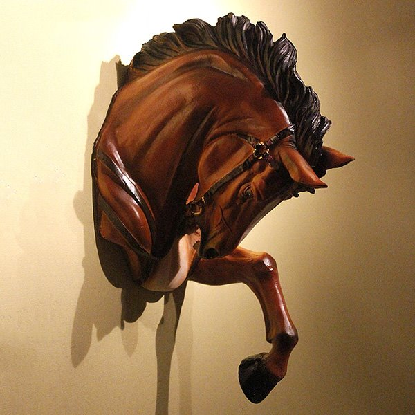 Marvelous Resin Horse Head Wall Art Decor Beddinginn Com