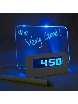 Versatile LED Clock and Message Board Desktop Decoration