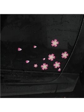 Beautiful Cherry Cute Flower And Tiny Creative Car Stickers
